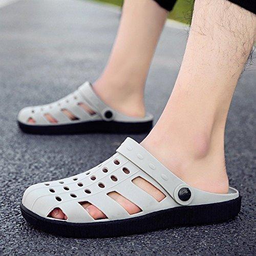 sandali pantofole spiaggia RBB da bucate scarpe ciabatte 42 Sandali da e mezze estivi grigio uomo scarpe OqpYwXq