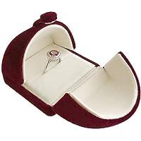 Svea Display Dark Red Premium Quality Velvet Jewelry Box Case Wedding Birthday Present Packaging