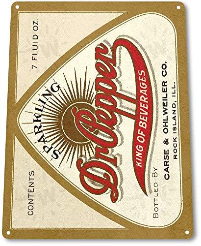 (Unoopler TIN Sign B665 Dr Pepper Soda Cola Kitchen Cottage Bar Retro Label Metal Decor 12