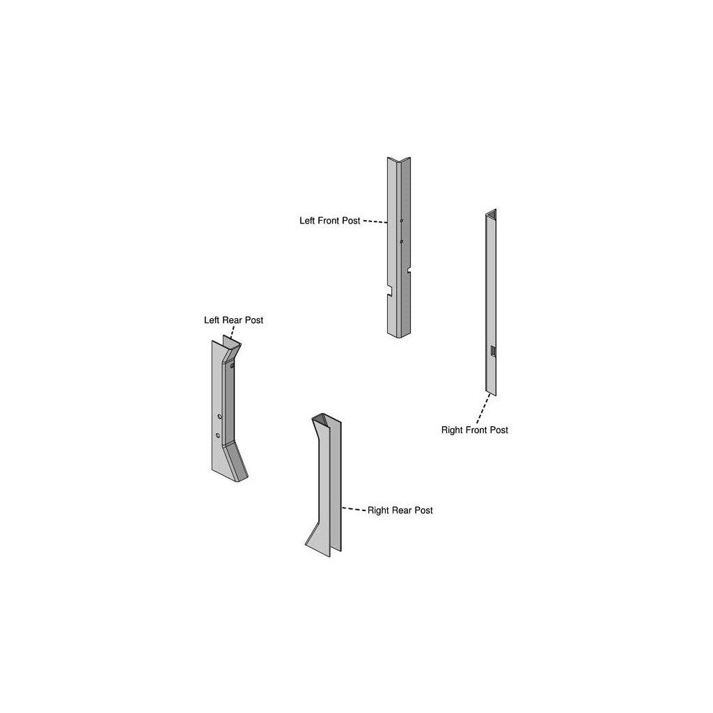 Amazon.com: John Deere 7000 Series Corner Post Kit 7200 ... on