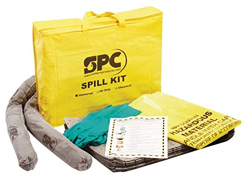Brady USA SKO-PP 20'' x 16'' x 4'' Bag SPC Hazwik Hi-Viz Yellow PVC Economy Portable Spill Kit, English, 30.68 fl. oz., Plastic, 1'' x 1'' x 1'' by Brady USA
