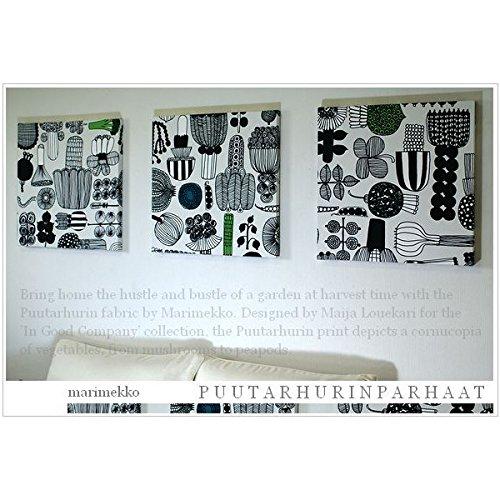 ファブリックパネル アリス marimekko PUUTARHURIN PARHAAT プータルフリンパルハート 40×40×2.5cm 3枚セット マリメッコ 壁掛けインテリア アートボード ファブリック 布 北欧 【同梱可】 B0188ERIIQ