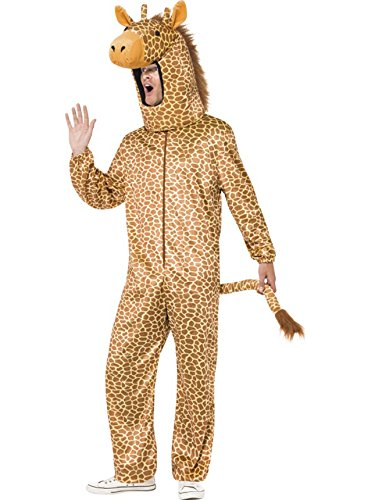 Smiffy's Men's Giraffe Costume, All in One and Hood, Party Animals, Serious Fun, One Size, (All In One Costumes For Adults)