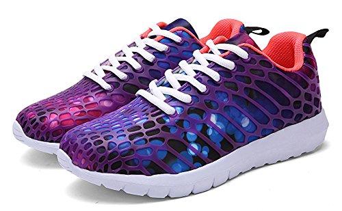 ZHENZHONG Women's Cool Fashion Sneakers Running Sport Shoes Purple for Walking Jogging