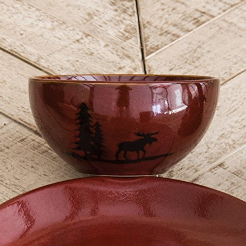 Moose and Bear Lodge Stoneware Moose ()