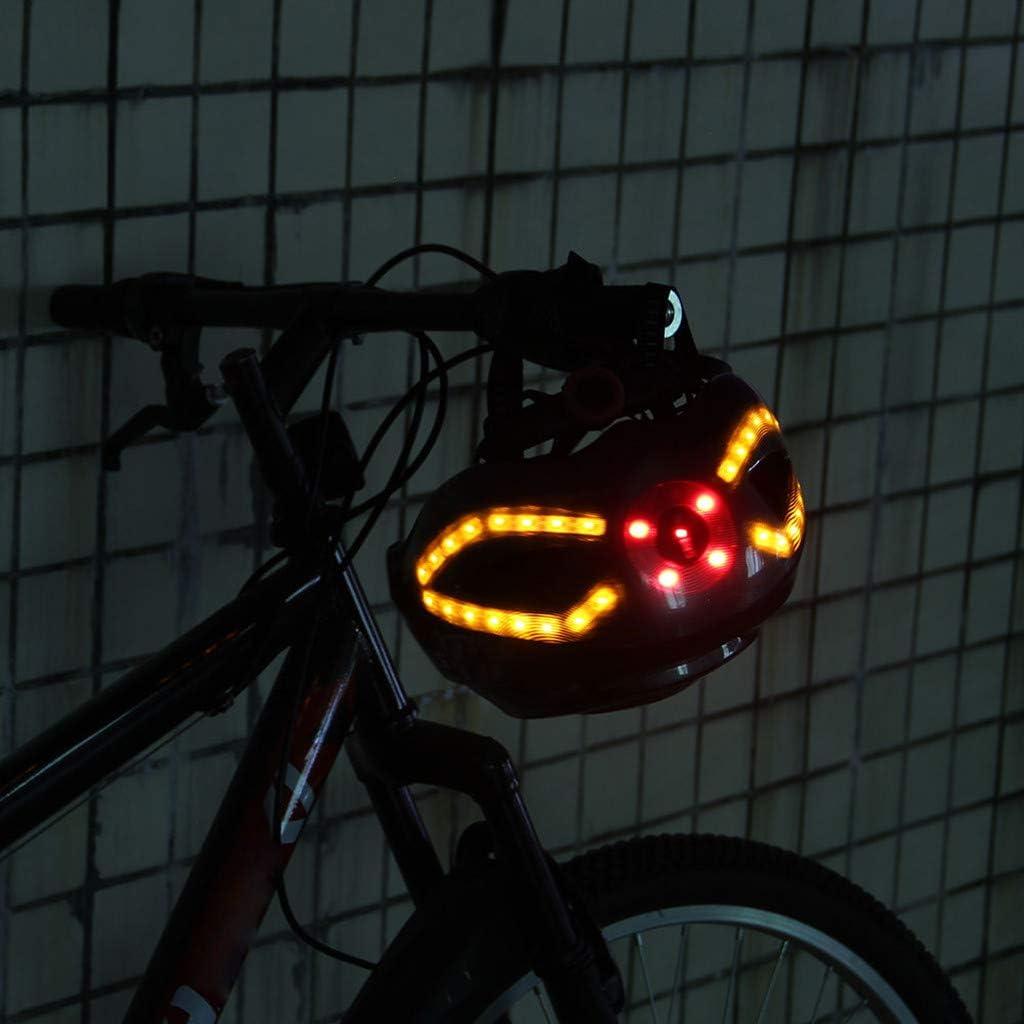 Smart Bike Helmet With Wireless Turn Signal Handlebar Remote USB Rechargeable US