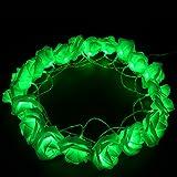Green Color 6.5ft/2.2m Rose Flower String Lights,CrazyFire 20 LEDs Wedding Decorations Light Strings For Chritsmas Wedding Halloween Patio Party Fairy Lights