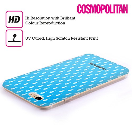 Official Cosmopolitan Blue Fun Fearless Female Soft Gel Case for Apple iPhone 4 / 4S