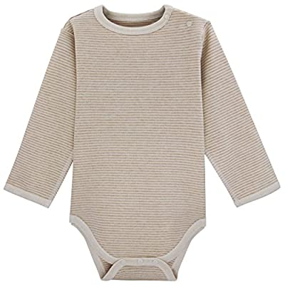 Dababe Unisex Baby Long Sleeve Bamboo Fiber and Cotton Bodysuit