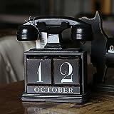 Personalized home decor and calendar ornaments creative American retro wood craftwork, tel.
