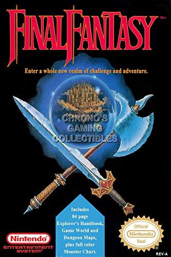 CGC Huge Poster -Final Fantasy Original Nintendo NES Box Art