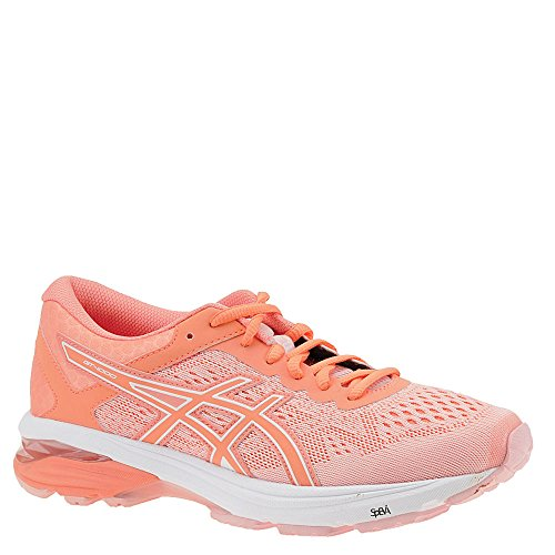 ASICS GT-1000 6 Women's Running Shoe, Seashell Pink/Begonia Pink/White, 9.5 M US (Best Running Shoes For Overpronation And Wide Feet)