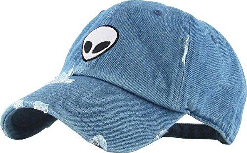 KBSV-042 MDM Alien Vintage Dad Hat Baseball Cap Polo Style Adjustable