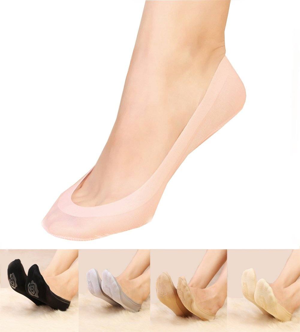 Gauss Kevin Thin Ice Silk No Show Low Cut Liner Socks Women Elastic Nylon Summer Sock Non Slip