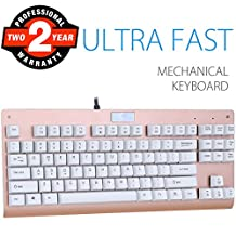 Mechanical Keyboard with RGB Backlit, Aitalk Z-77 Blue Switches 87 keys Professional Gaming Keyboard with Customized Light Modes N-key Rollover (Black)