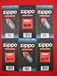Zippo Lighter Wicks x3 & Flints x3 Se...