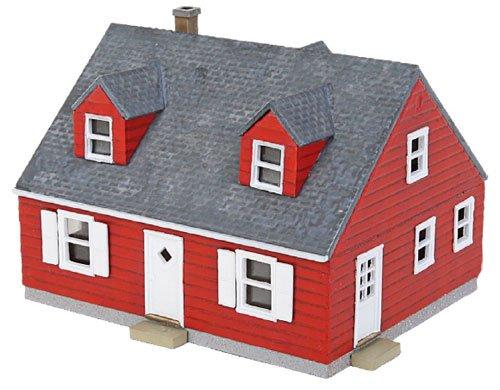 Walthers, Inc. Cape Cod House Kit, 2-3/8 X 2 X 1-5/8