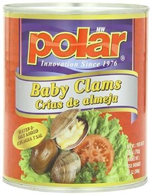 MW Polar Seafood, Whole Baby Clams, 28 Ounce