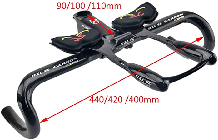 Zyy 31.8mm / 1.25in Manillar TT Bicicleta De Carretera Fibra De Carbono Completa Resto Manillar Encargarse De Ajuste JIS EN14781 Estándar: Amazon.es: Deportes y aire libre