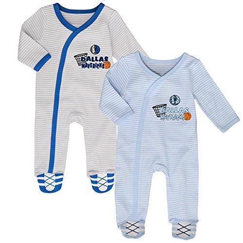 (Outerstuff NBA Dallas Mavericks Newborn B-Ball Best 2 Piece Coverall Set, 0-3 Months, Cool Grey)