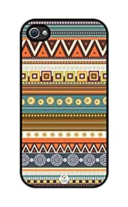 iZERCASE Aztec Pattern rubber iphone 4 case - Fits iphone 4 & iphone 4s