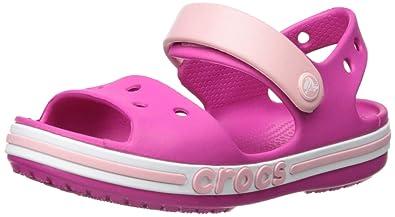 c749bc2ba1e35 Amazon.com | Crocs Kids' Boys and Girls Bayaband Sandal, Candy Pink ...