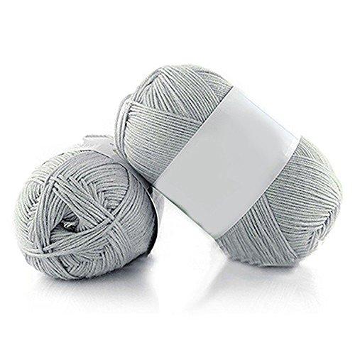1Pc Soft Bamboo Crochet Cotton Knitting Baby Knit Wool Yarn 50g