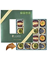 Laumiere Gourmet Fruits - Crescent Collection - Dried Fruits and Nuts Basket - Box - Hamper - Ramadan - Eid - Festive Celebrations - No Added Sugar - Healthy - Natural (Square)
