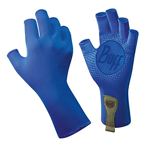 Nylon Print Gloves - BUFF Sport Series Water 2 Gloves, Lucky Blue, Medium/Large