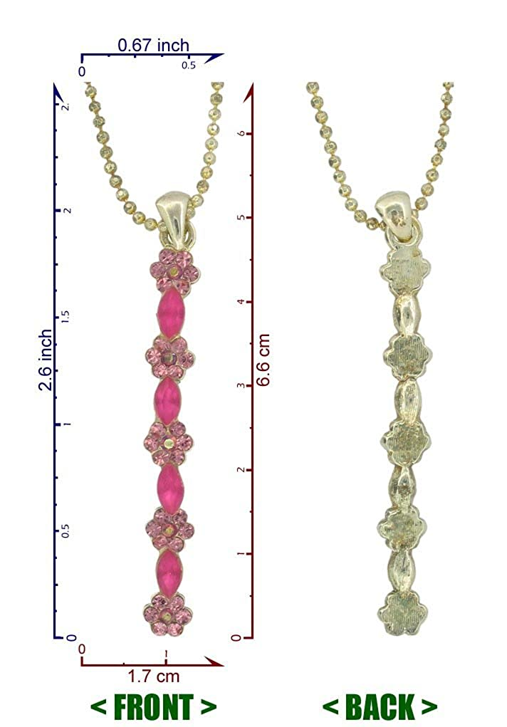 Handmade Geometric Silver Plated Pendant Necklaces Fashion Jewelry RSN951 Flower Vertical Bar Necklace