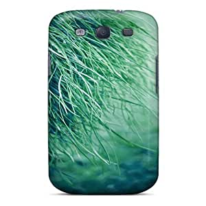 Anti-scratch And Shatterproof Pure Grass Phone Case For Galaxy S3/ High Quality Tpu Case