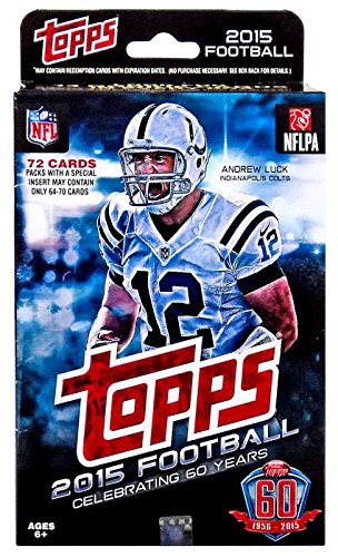 (2015 Topps NFL Football Factory Sealed Hanger Box with 72 Cards including 13 Rookie Cards per box plus stars and inserts! Possible Rookies and Autographs of Marcus Mariota, Jameis Winston and Many Others)