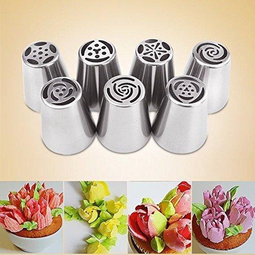 Juego de 7 boquillas de glaseado ruso para decoración de tartas ...