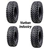 Bundle - Four Tusk TERRABITE Heavy Duty 8-Ply DOT Radial UTV/ATV Tires - 28x10-14