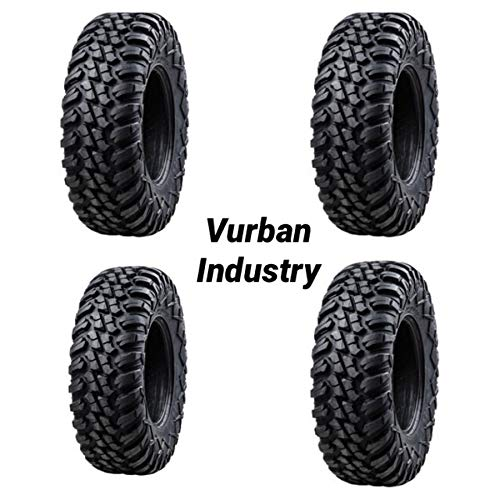 - Bundle - Four Tusk TERRABITE Heavy Duty 8-Ply Radial DOT UTV/ATV Tires - TWO 27x9-14 & TWO 27x11-14