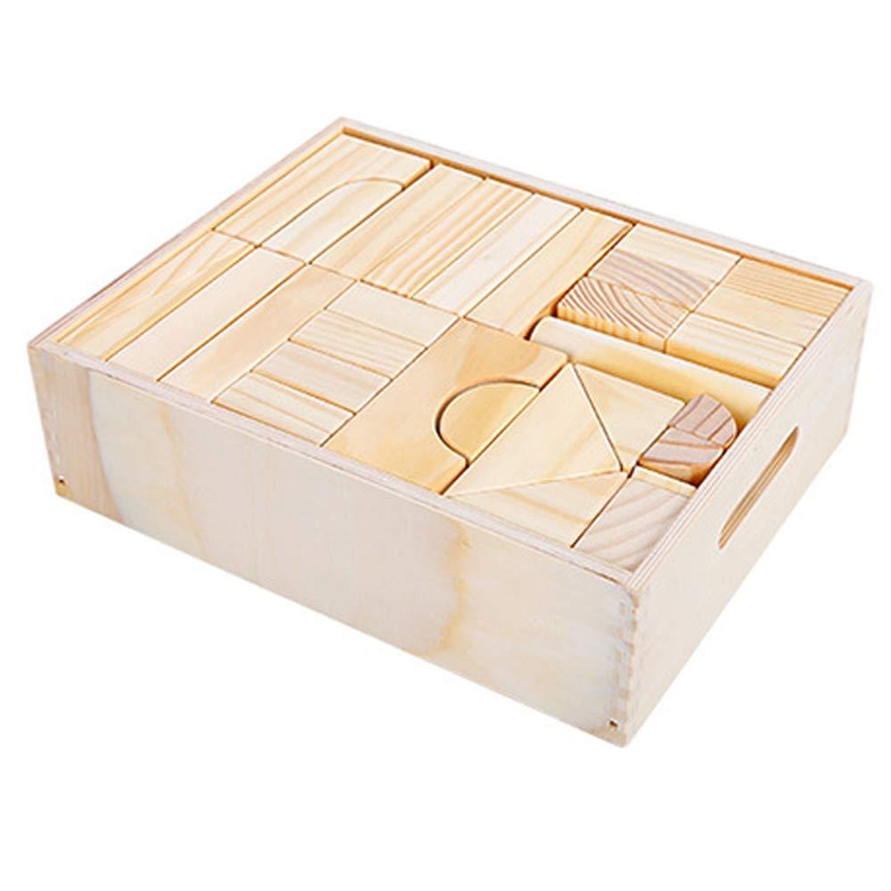 Three-dimensional puzzle Juguetes para niños, Bloques de Troncos Grandes, Juguetes para bebés de educación temprana 64 partículas Grandes (bebé Mayor de 6 años)