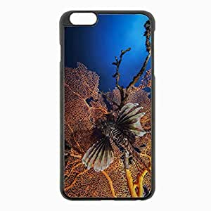 iPhone 6 Plus Black Hardshell Case 5.5inch - lionfish striped lionfish zebra fish corals Desin Images Protector Back Cover