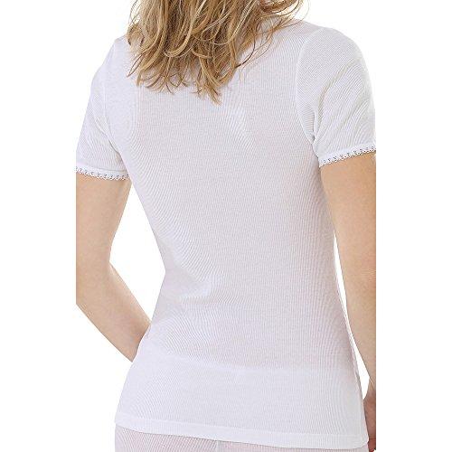 comazo Damen Shirt Kurzarm Bio-Baumwolle/Elasthan, Weiß, Gr. 42
