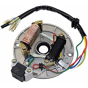 70cc chinese atv wiring diagram amazon com goofit 2 coil magneto stator for 50cc    70cc     amazon com goofit 2 coil magneto stator for 50cc    70cc