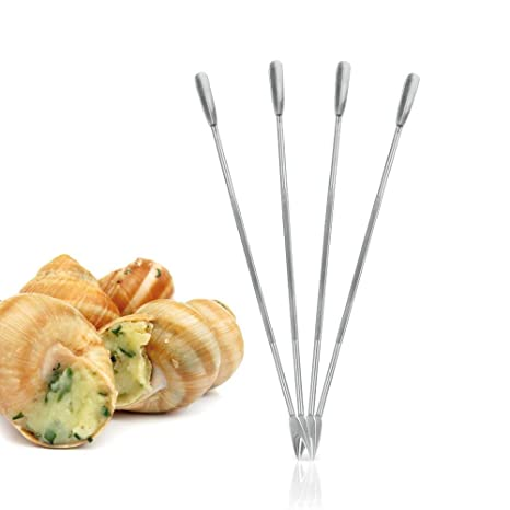 Silver Metaltex 18 cm Stainless Steel Lobster Shellfish Forks Set of 4