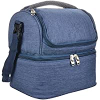 imoli Double Deck Cooler Reusable Lunch Bag for Men and Women