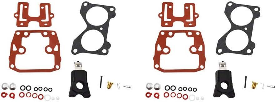 2 X Carburetor Carb Rebuild Repair Kits Fit for Johnson Evinrude V4 85 90 100 115 125 140 HP 439076