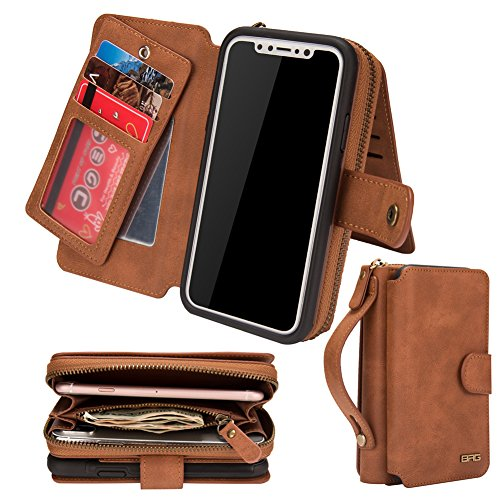 - iPhone Xs Max Case,iPhone 10xs Max Case,Premium Leather Wallet with Card Holder for Men/Women's iPhoneXsMax Phone Accessories Shell Skin Magnetic Detachable Cover