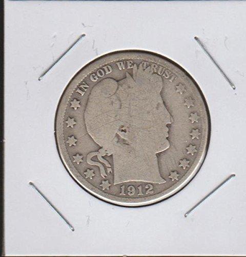 1912 D Barber or Liberty Head (1892-1915) Half Dollar Very Fine (1912 Barber Quarter)