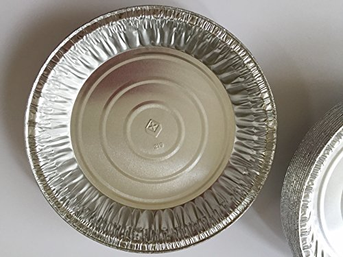 50 Disposable Silver Aluminum Foil Pie Plate Pan 9'' by Handi-Foil