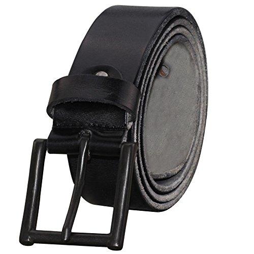 Mens Black Top Grain - PAZARO Men's Super Soft Top Grain 100% Leather Belt Black Color
