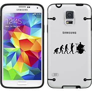 Black Samsung Galaxy Ultra Thin Transparent Clear Hard TPU Case Cover Evolution Drummer (Black for S4)