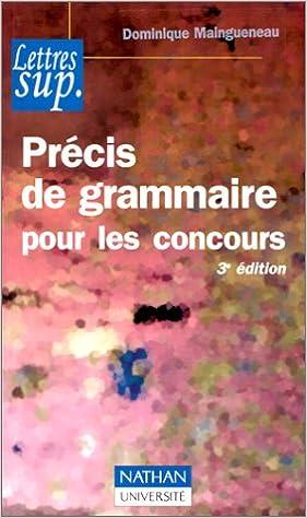 En ligne téléchargement gratuit Précis de grammaire pour les concours pdf ebook