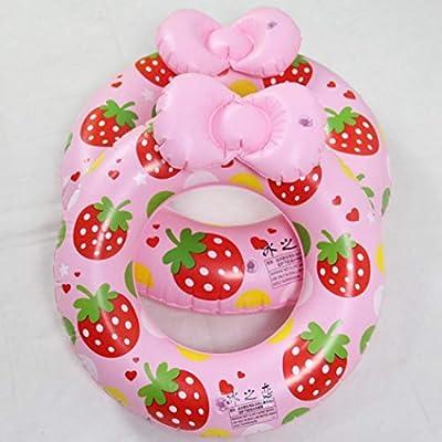 Coocle Natación Ring, 36102 Flotador (Flotador Niños Baby – just4baby, Baby Float 36102 Baby Nadar natación Anillo Niños, Unisex bebé, Rosa, 60 cm