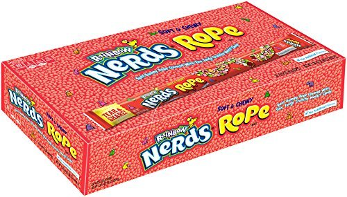 Nerds Rope Rainbow Candy, 0.92 Ounce 24 ct (3 Packs) by Nerds